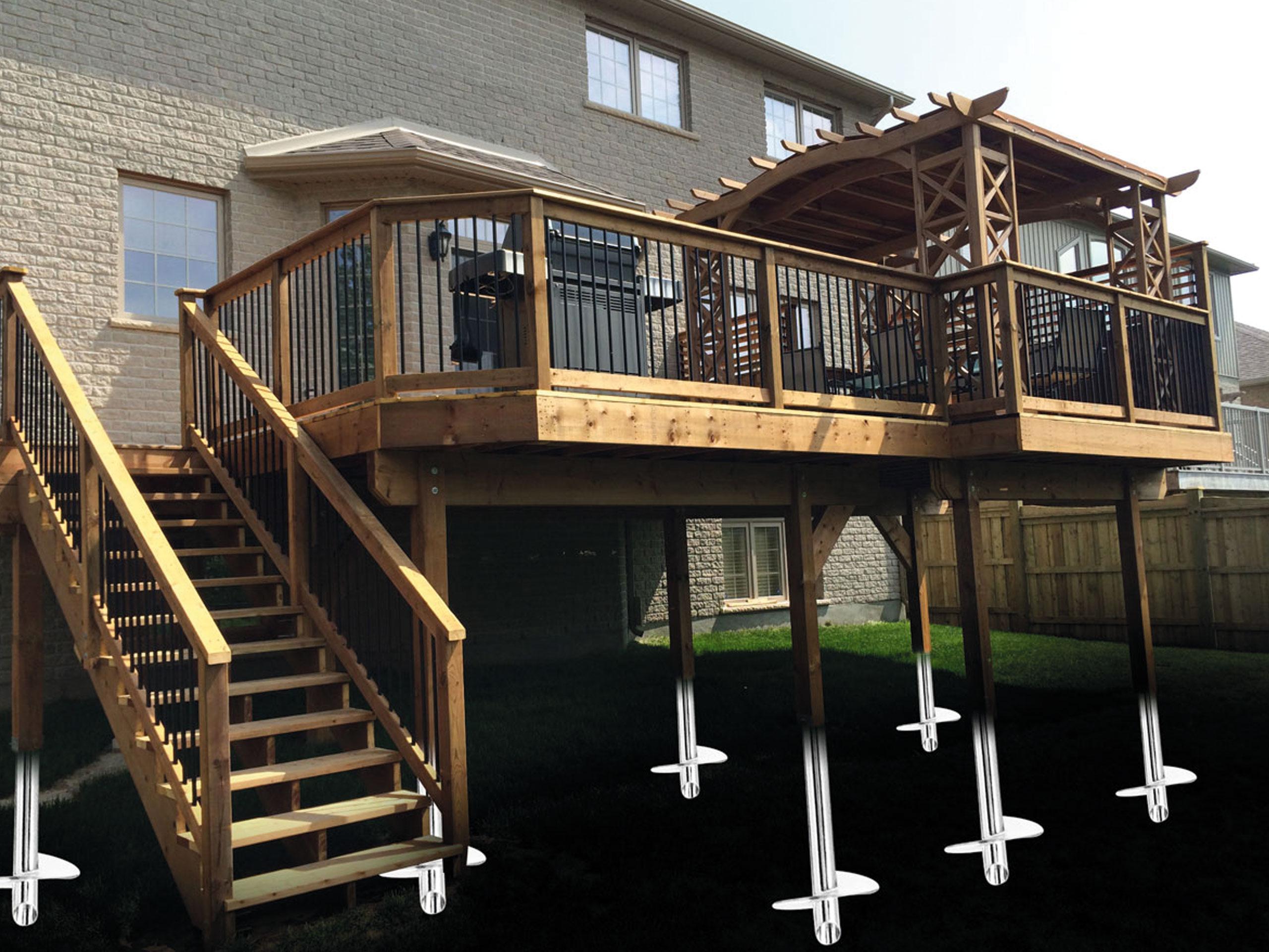 Helical Deck Pilings